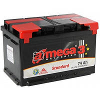 Аккумулятор автомобильный A-Mega Standart 74AH L+ 720A (M3)