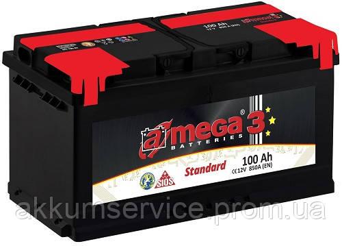 Аккумулятор автомобильный A-Mega Standart 100AH R+ 850A (M3)