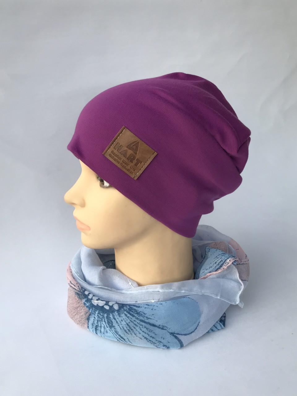 Трикотажная шапка на флисе