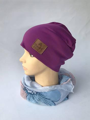 Трикотажная шапка на флисе, фото 2
