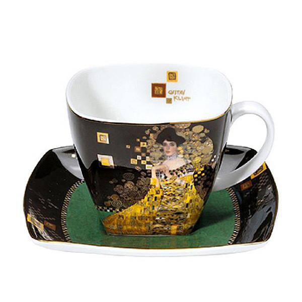 Чашка чайная с блюдцем Goebel Gustav Klimt Adele Bloch-Bauer 250 мл 66-884-22-2