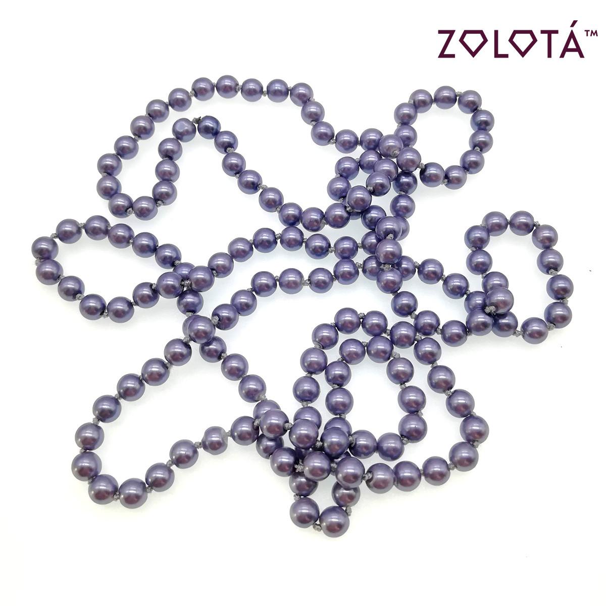 Бусы из майорки светло-фиолетового цвета, 150 см, БС00061 (1)