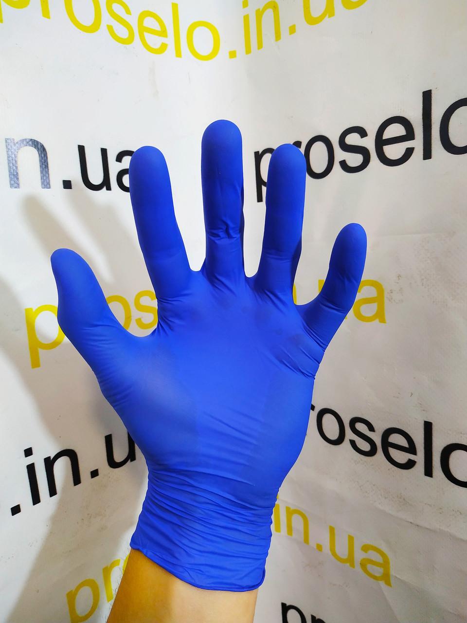 """Перчатки нитриловые,осмотровые,нестерильные. Упаковка 50 пар  """"Nitrylex basic"""" L .Польша"""
