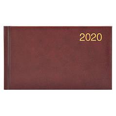 Еженедельник датированный 2020 Brunnen Miradur Карманный 8,7х15,3 см бордо