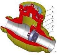 Клапан обратный поворотный SYNKLAD SYN KS L10.1 PN 160-400