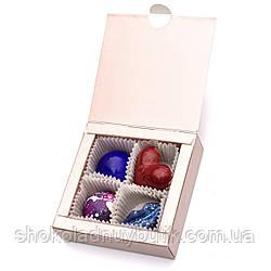 Шоколадные конфеты ручной роботы *Коробка металик на 4шт.*