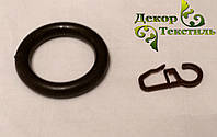 Кольцо + крючек Венге (пластик) 20шт.