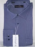 Рубашка мужская с длинным рукавом Ferrero Gizzi vd-0029 синяя в клетку классическая