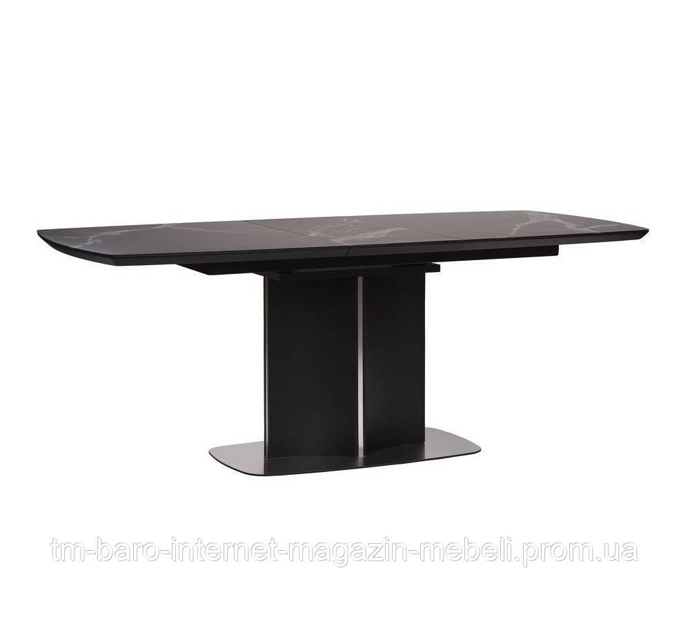 Стол обеденный Олбери черный (Albury) матовое стекло+МДФ 160-200, Concepto