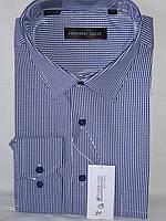 Рубашка мужская с длинным рукавом Ferrero Gizzi vd-0031 синяя в клетку классическая