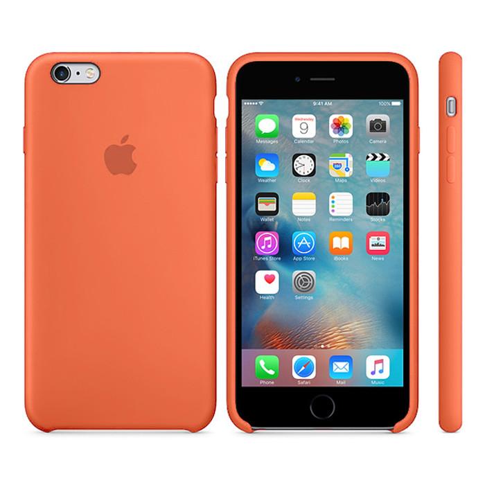 Чехол Soft Silicone Case для Apple iPhone 6/6S Оранжевый