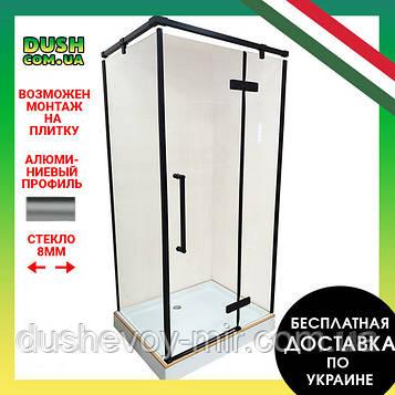 Душевая кабина VERONIS KN-10-32 black правая 120х80х204
