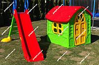 Дитячий будинок, будиночок, детский домик, дом Dorex 5075 + дитяча гірка, детская горка 200 см