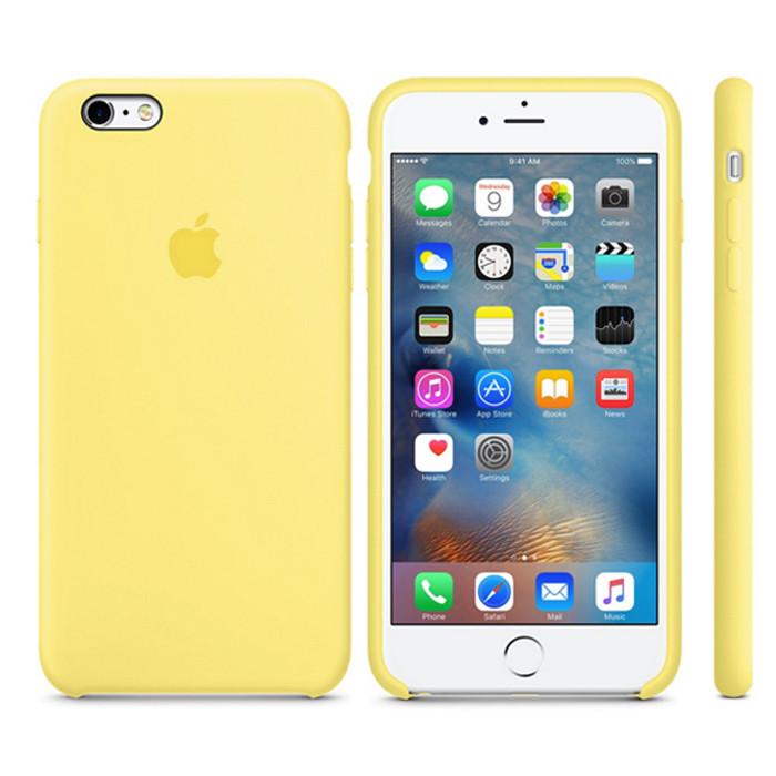 Чехол Soft Silicone Case для Apple iPhone 6/6S Желтый