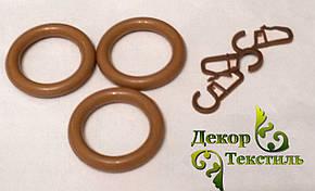 Кольцо + крючек Орех (пластик) 20шт., фото 2