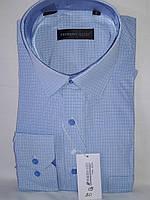 Рубашка мужская с длинным рукавом Ferrero Gizzi vd-0030 голубая в клетку классическая