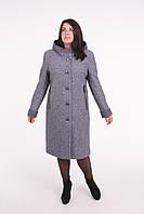 Пальто женское -Л-584 серое зимнее
