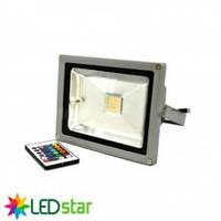Прожектор светодиодный RGB LED Star c пультом, 220V, 20W, IP65