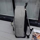 Рюкзак городской спортивный унисекс (серый), фото 4