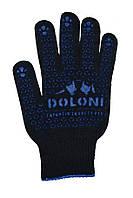 Рукавички чорні Doloni 667 з ПВХ