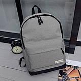 Рюкзак городской спортивный унисекс (серый), фото 2