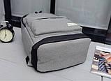 Рюкзак городской спортивный унисекс (серый), фото 6