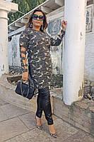 Оригинальная женская удлиненная туника ангора больших размеров до 64 размера