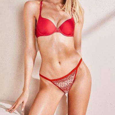 💋 Трусики Стринги Victoria's Secret XO-XO V-string Panty M, Красные