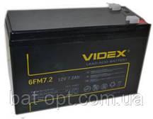 Аккумуляторная батарея Videx 12V - 7.2Ah 6FM7.2 свинцово-кислотный