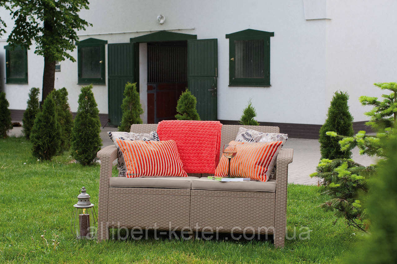 Corfu Love Seat садові меблі з штучного ротанга