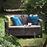 Corfu Love Seat садові меблі з штучного ротанга, фото 4