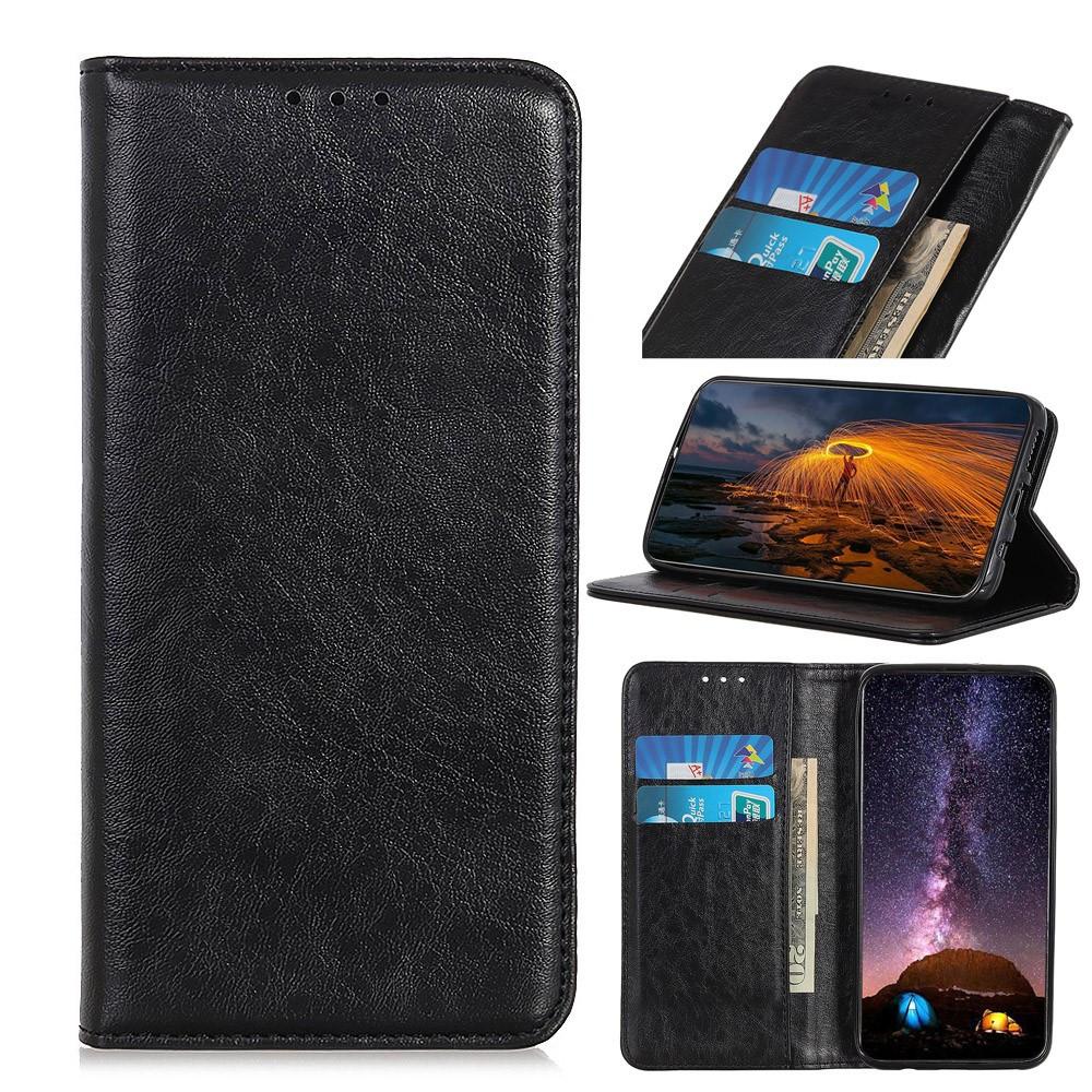 Чехол книжка для Samsung Galaxy A10s A107FD боковой со встроенной магнитной застежкой, Гладкая кожа, черный