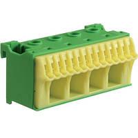 Блок PE-клемм 18 4x16 мм2 + 14x4 мм2 Hager QiuckConnect KN18E 75мм