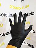 """Рукавички нітрилові,оглядові,нестерильні. Упаковка 50 пар """"Nitrylex black"""" M. Польща, фото 3"""