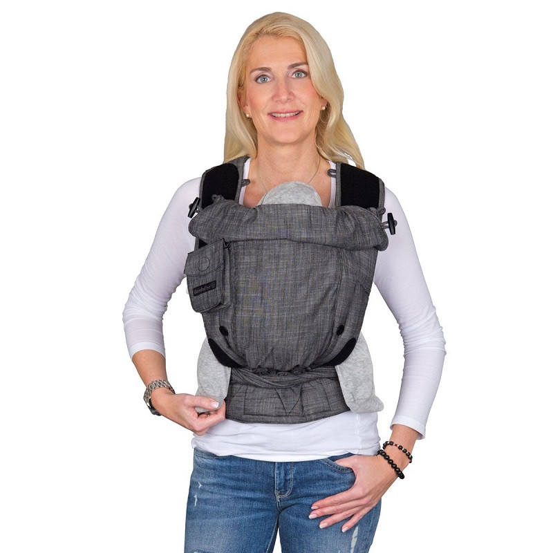 Май-рюкзак HOPPEDIZ BONDOLINO Plus One Size Denim-Black