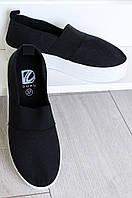 Слипоны женские черные 498-1, фото 1