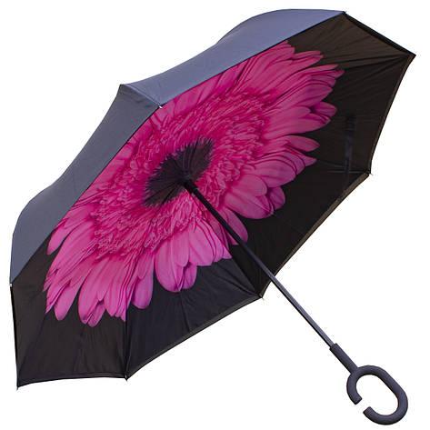 Зонт наоборот Up Brella Розовый цветок, фото 2