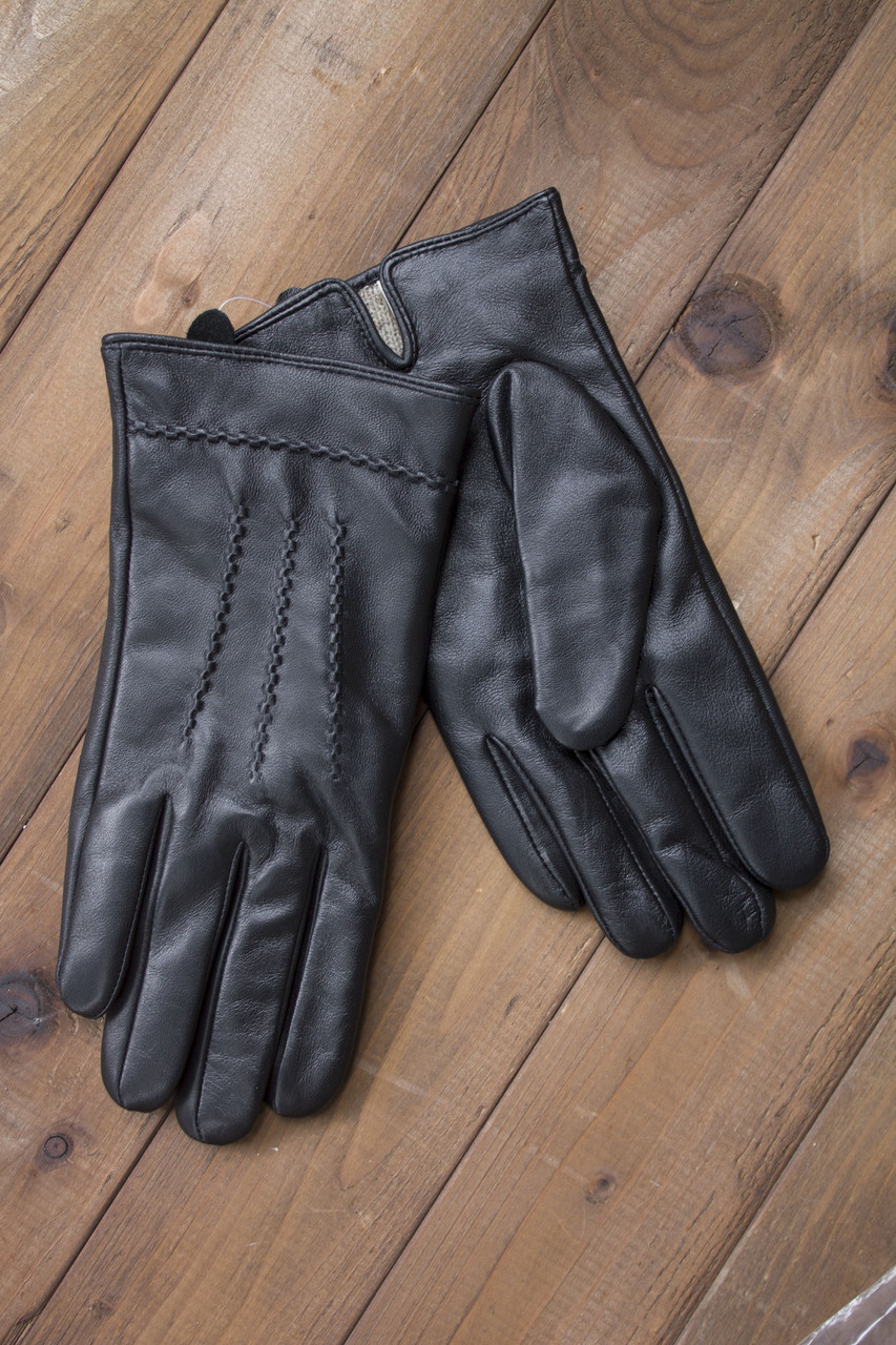 Мужские кожаные сенсорные перчатки  939s1