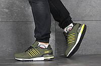 Мужские кроссовки в стиле Adidas (весна-осень, мужские, нубук, хаки)