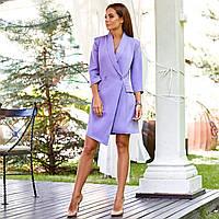 Женское платье-пиджак фиолетовое, фото 1