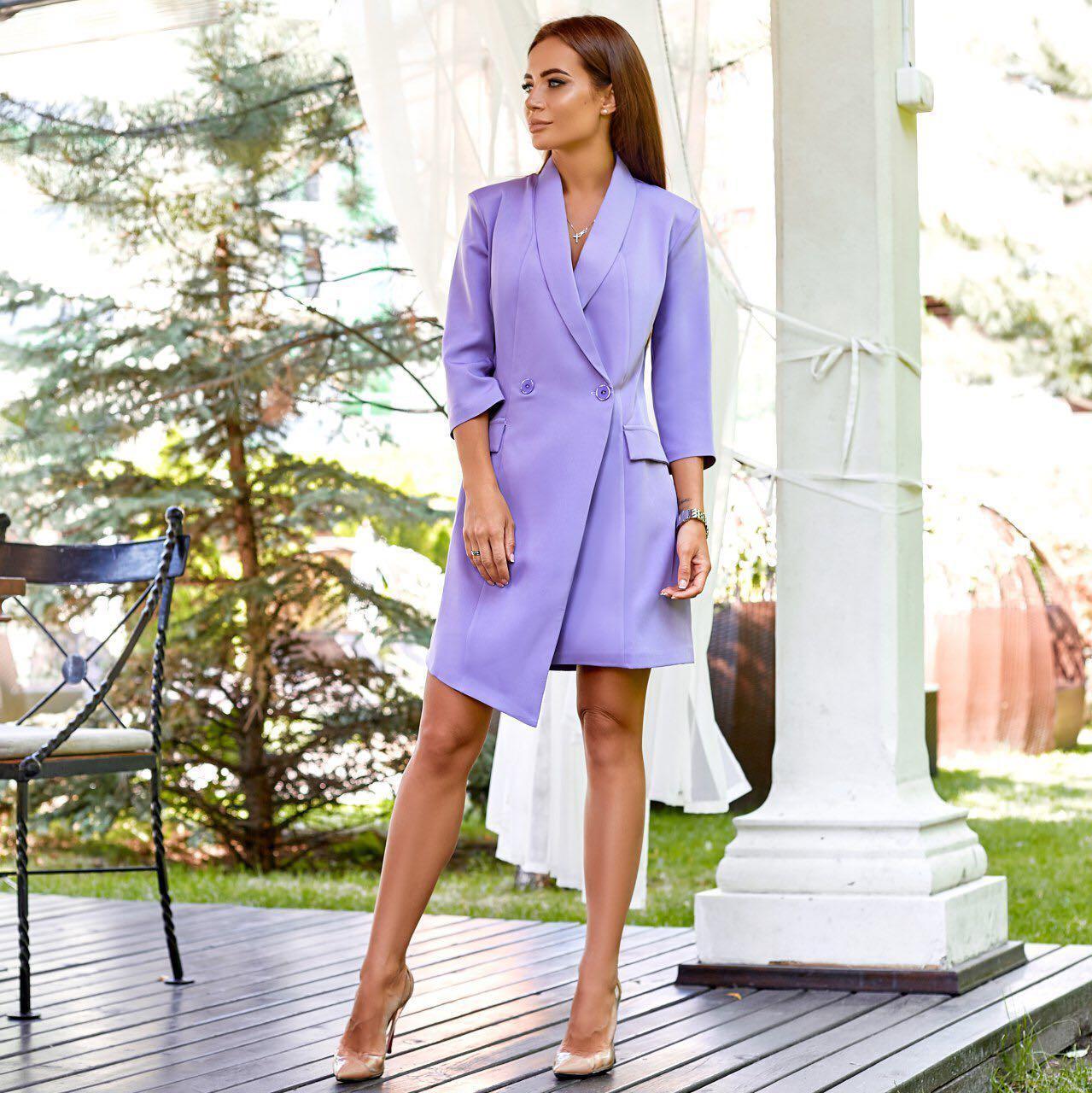 Женское платье-пиджак фиолетовое