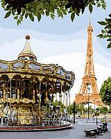 Картина по номерам Веселый Париж, 40x50 см, подарочная упаковка, Brushme (Брашми)