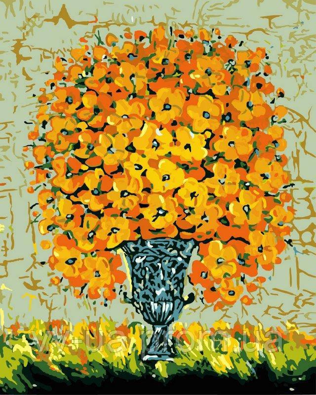 Картина по номерам Нарисованный букет на вазе, 40x50 см, подарочная упаковка, Brushme (Брашми)
