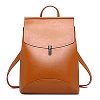 Рюкзак-сумка (трансформер) женский с клапаном и застежкой (рыжий)