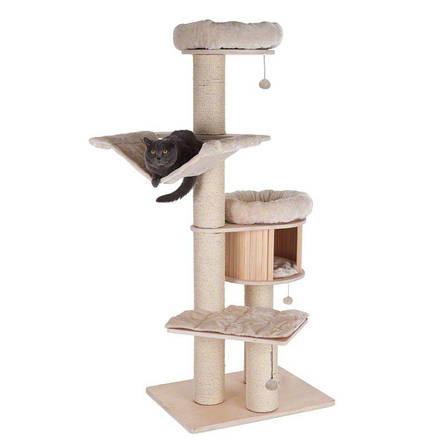 Ігровий комплекс для котів Eco Premium XL з будиночком для кішки і когтеточку, фото 2