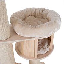 Ігровий комплекс для котів Eco Premium XL з будиночком для кішки і когтеточку, фото 3