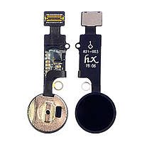 Шлейф для APPLE iPhone 7/ 7 Plus/ 8/ 8 Plus на кнопку HOME, без Bluetooth, черная, универсальная