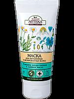Маска для волос окрашенных и мелированных волос Ромашка лекарственная и льняное масло 200мл Зеленая Аптека