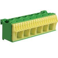 Блок PE-клемм 266x16 мм2 + 20x4 мм2 Hager QiuckConnect KN26E 105мм