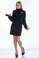 Пальто №8 черный р.44-48